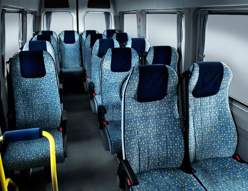 17 Seater Minibus passenger compartment