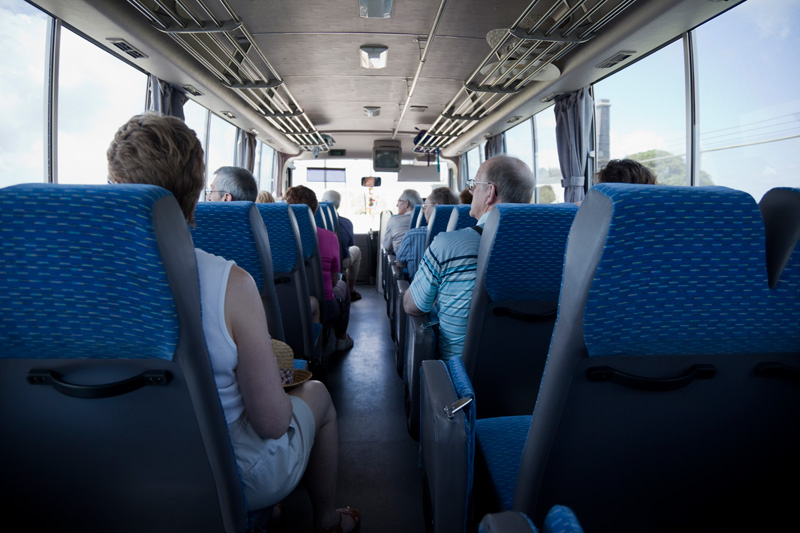 30 Seater Coach passenger compartment