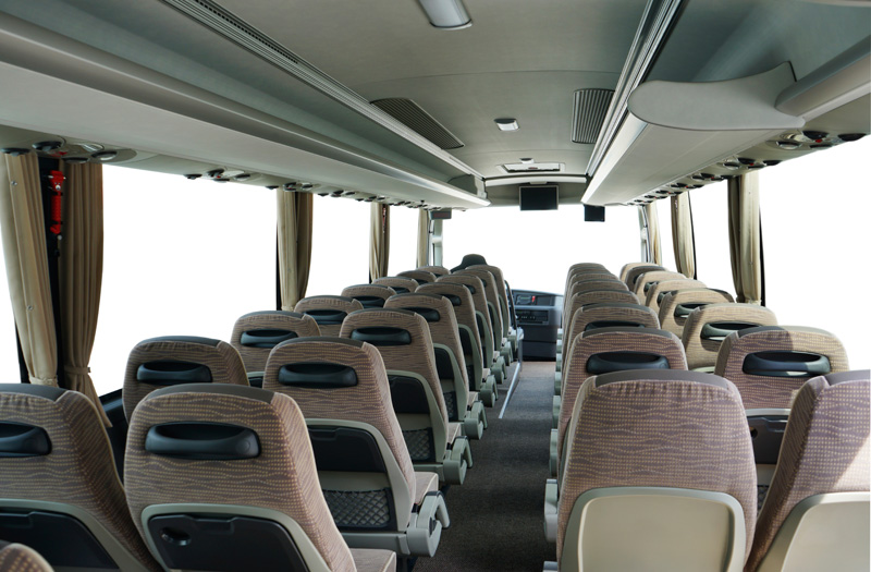 50 seater coach passenger compartment