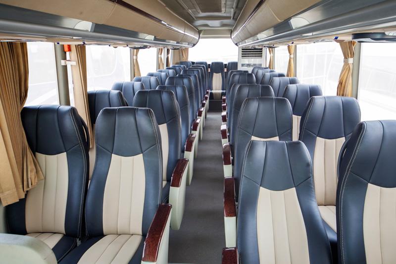 55 seater coach passenger compartment