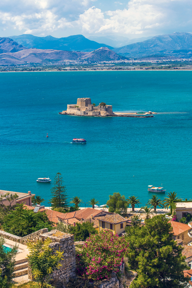 Old Venetian fortress Bourtzi in Nafplio